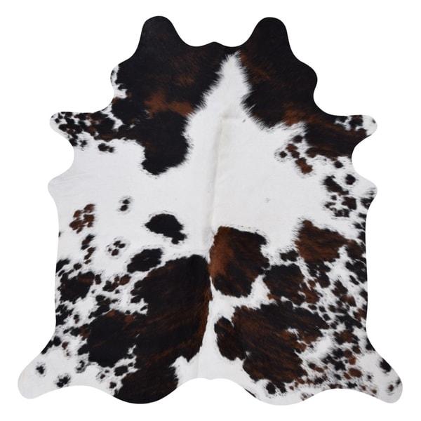 Real Cowhide Rug Salt&Pepper Tricolor - 6' x 7'
