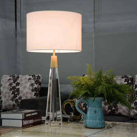 Clean Faceted Glass Table Buffet Lamp By Lucas McKearn