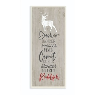 Link to Stupell Industries Santa Reindeer Names Grey Wood Texture Christmas Holiday Word Design Wood Wall Art,7x17,Proudly Made in USA Similar Items in Decorative Accessories