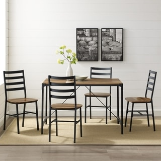 Carbon Loft 5-Piece Angle Iron Dining Set (one carton)