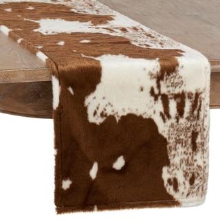 Cow Hide Design Faux Fur Runner