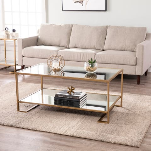 Glam Gold Metal Coffee Cocktail Table