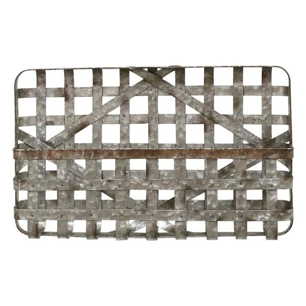 Stratton Home Decor Galvanized Wall Basket