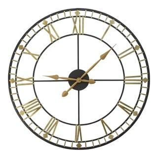 "Stratton Home Decor Oversized 31.50"" Industrial Austin Wall Clock - 28"" Diameter"