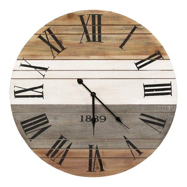 """Stratton Home Decor 21"""" Winston Wall Clock - 21"""" Diameter"""