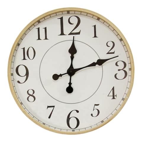 "Stratton Home Decor 14"" Cooper Modern Wall Clock - 13.50 Diameter"