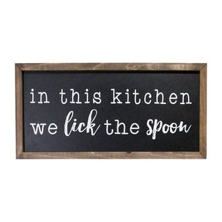 Stratton Home Decor In this Kitchen We Lick the Spoon Wood Wall Art