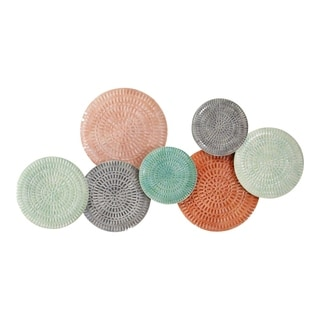 Stratton Home Decor Malibu Textured Metal Plates Wall Décor