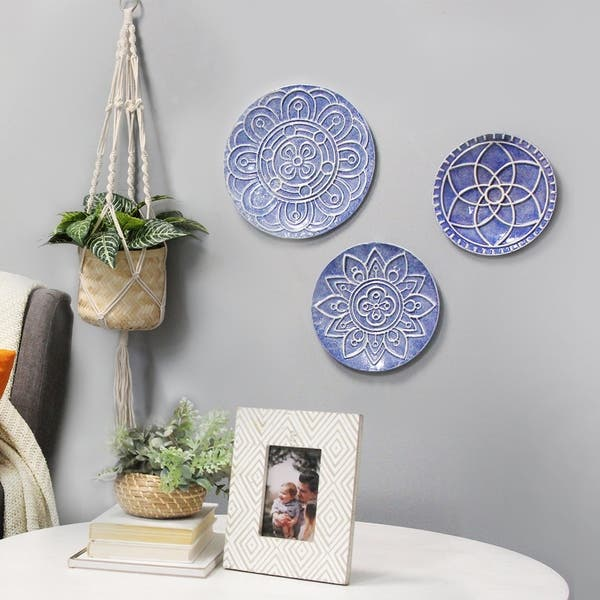 Set Of 3 Mykonos Metal Plates Wall