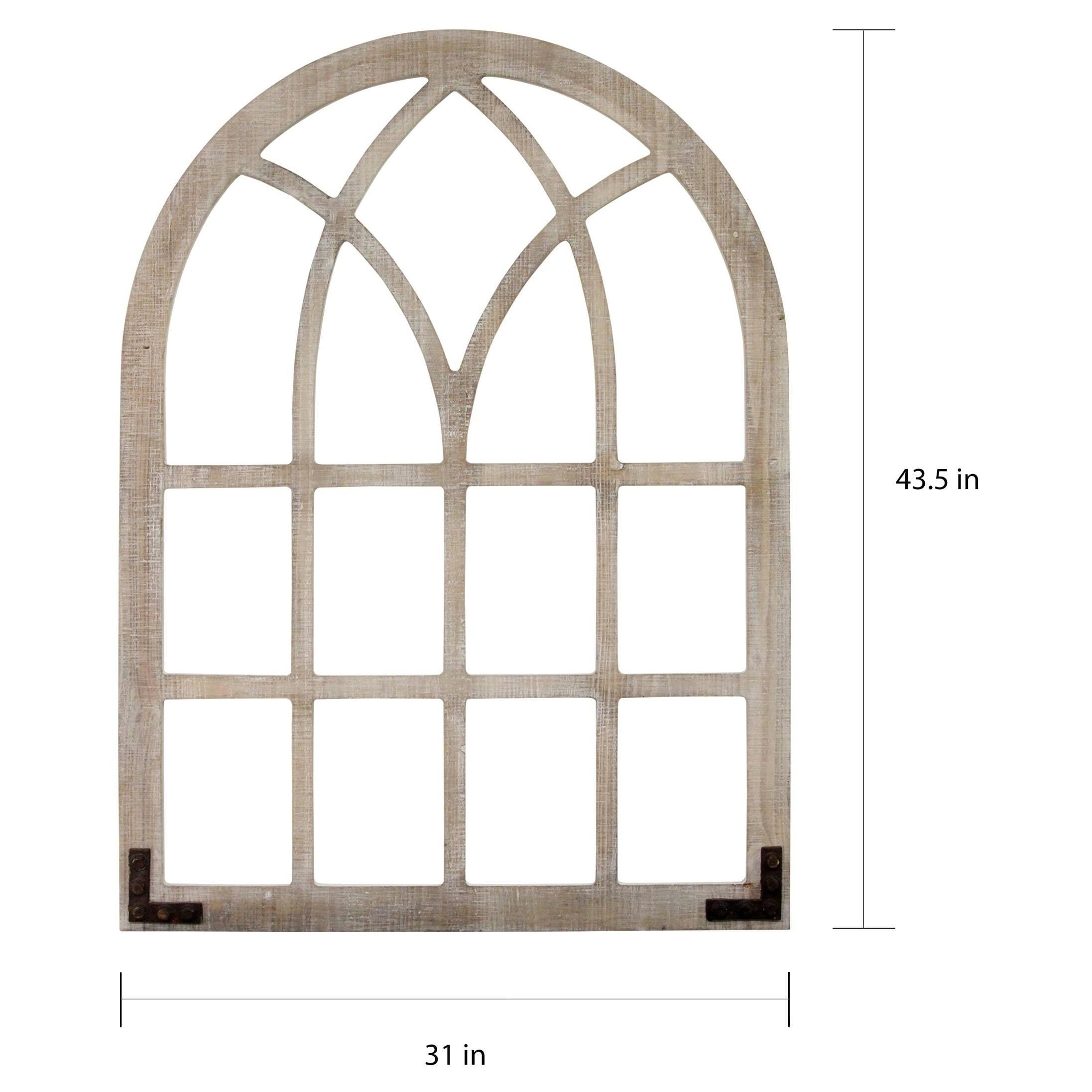 Gray Barn Window Arch Wall Decor