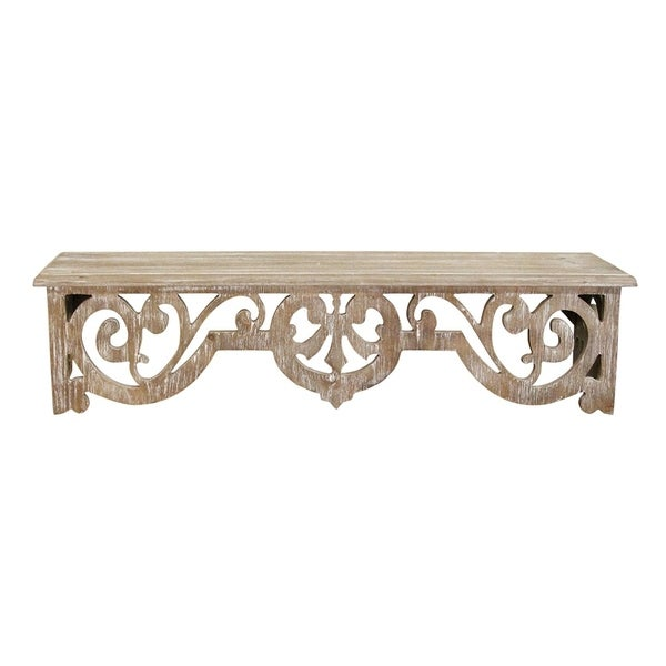 Stratton Home Decor Vintage Wood Scroll Wall Shelf. Opens flyout.