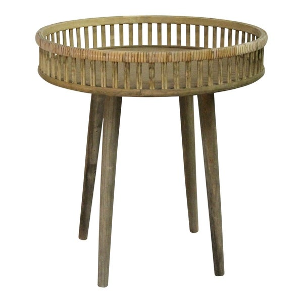 Stratton Home Decor Rattan Side Table