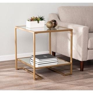 Harlie Glam Gold Metal End Table