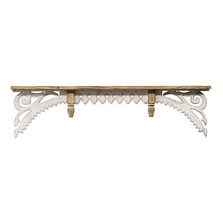 Stratton Home Decor Vintage Wood Wall Shelf
