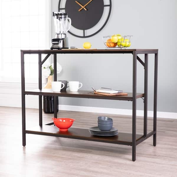 Shop Holly & Martin Industrial Two-tone Kitchen Island with ...