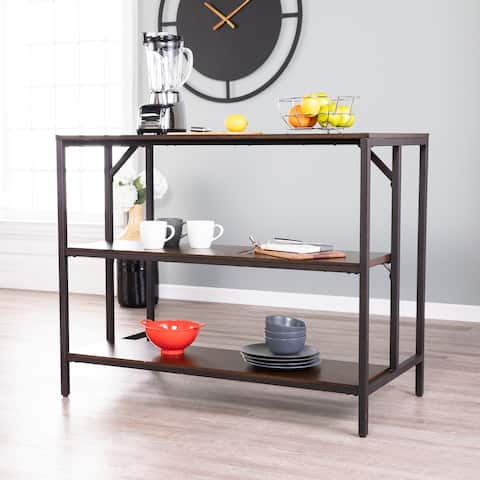 Holly & Martin Industrial Two-tone Kitchen Island with Storage