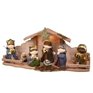 """8"""" Nativity Set with Light"""
