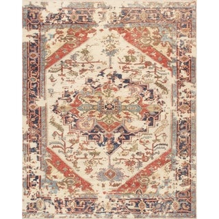 Pasargad Home Serapi Collection Hand-Knotted Wool Area Rug