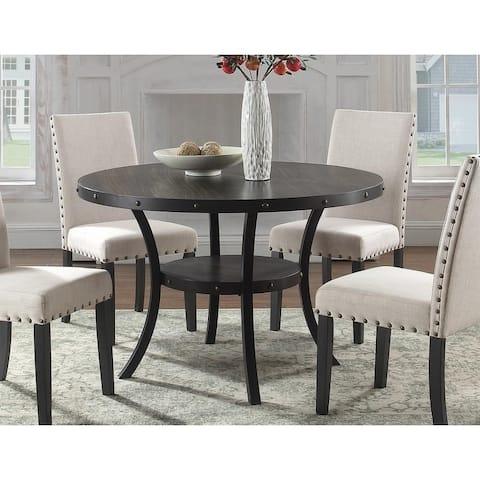 Best Master Furniture Antique Black Round Dining Table