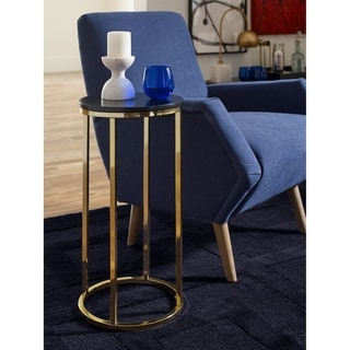 Tommy Hilfiger Ellias Table, Black and Gold