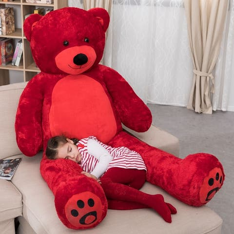 "WOWMAX Large Teddy Bear Stuffed Animal Soft Plush Toy Gift 72"""