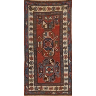 "Antique Shabby Chic Oriental Traditional Hand Knotted Russian Rug - 8' 4"" x 4' 1"" Runner"
