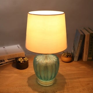 """Link to CO-Z 17.75"""" Modern Ribbed Glass Table Lamp Similar Items in Table Lamps"""
