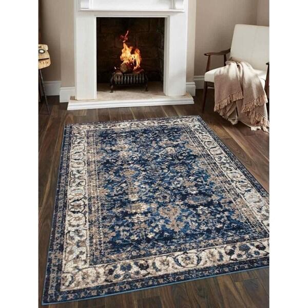 Traditional Oriental Heatset Carpet Turkish Over Dyed Area Rug