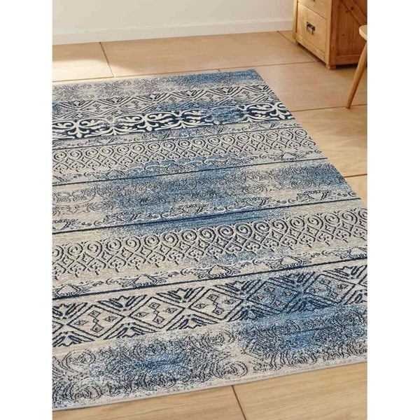 Transitional Oriental Heatset Carpet Turkish Over Dyed Area Rug