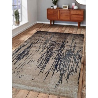 Abstract Heatset Carpet Turkish Oriental Modern Over Dyed Area Rug