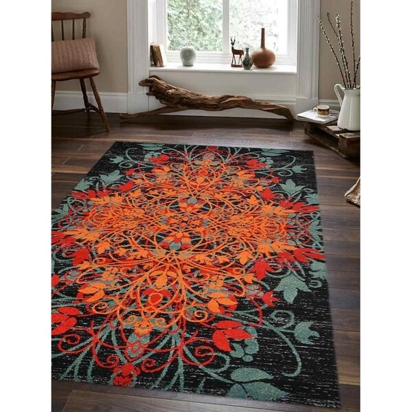Heatset Modern Floral Carpet Turkish Oriental Over Dyed Area Rug