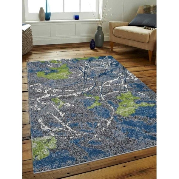 Abstract Heatset Modern Carpet Turkish Oriental Over Dyed Area Rug