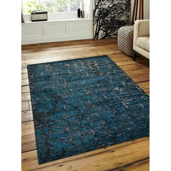 Heatset Turkish Modern Abstract Carpet Oriental Over Dyed Area Rug