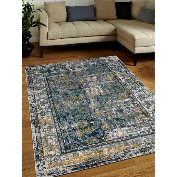 Modern Heatset Carpet Turkish Abstract Oriental Over Dyed Area Rug