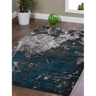 Oriental Modern Abstract Heatset Carpet Turkish Over Dyed Area Rug