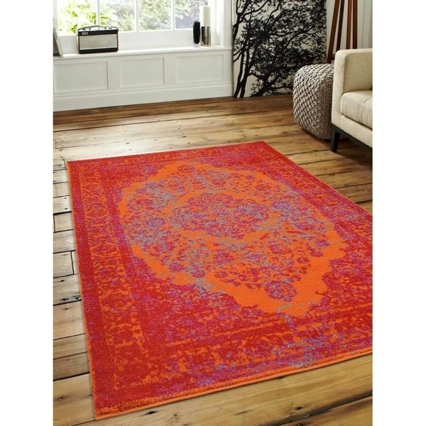 Traditional Oriental Over-Dyed Heatset Carpet Turkish Over Dyed Area Rug
