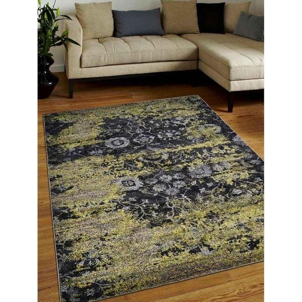 Heatset Modern Carpet Turkish Oriental Abstract Over Dyed Area Rug