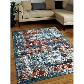 Abstract Carpet Heatset Turkish Oriental Modern Over Dyed Area Rug