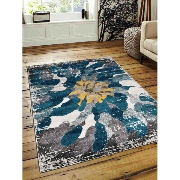 Modern Abstract Carpet Heatset Turkish Oriental Over Dyed Area Rug