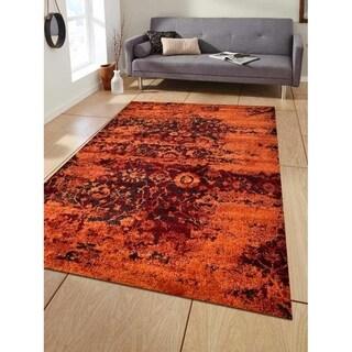 Heatset Carpet Turkish Oriental Modern Over Dyed Area Rug Abstract