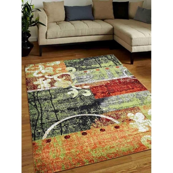 Modern Patchwork Over-Dyed Carpet Turkish Oriental Over Dyed Area Rug
