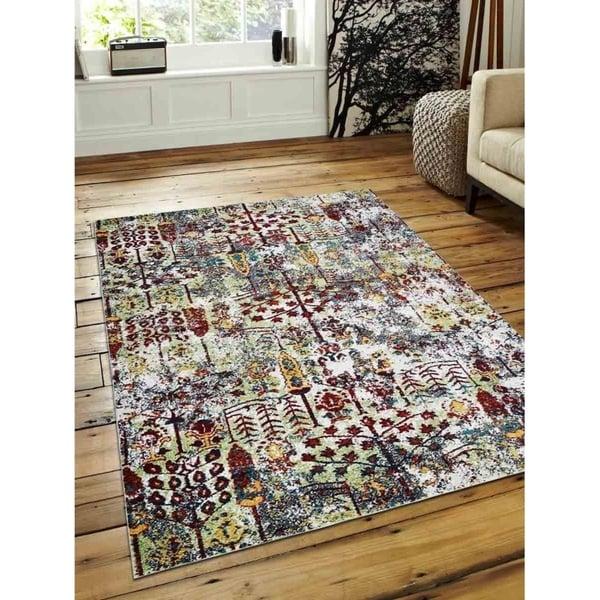 Modern Oriental Heatset Carpet Turkish Over Dyed Area Rug