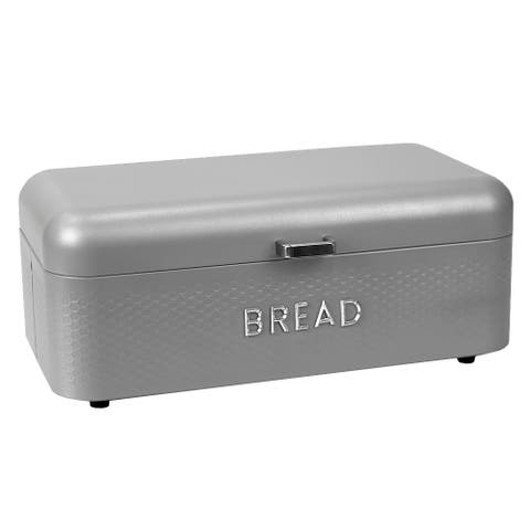 Soho Metal Bread Box, Grey
