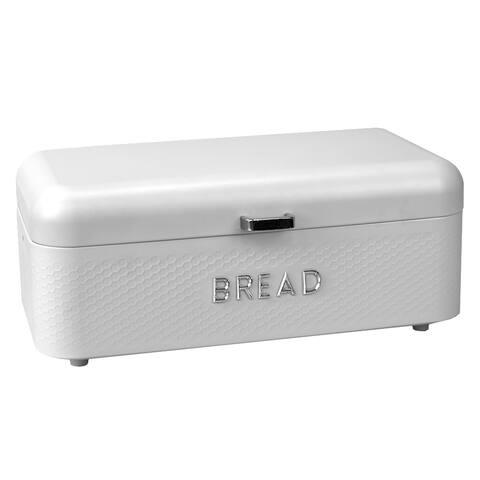 Soho Metal Bread Box, White