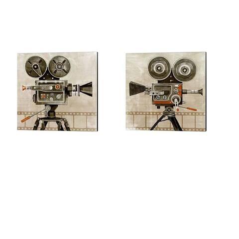 Grace Popp 'Vintage Reel' Canvas Art (Set of 2)