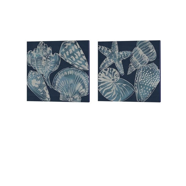 Chariklia Zarris 'Marine Shells A' Canvas Art (Set of 2)