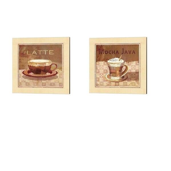 Linda Maron 'Latte & Mocha Java' Canvas Art (Set of 2)