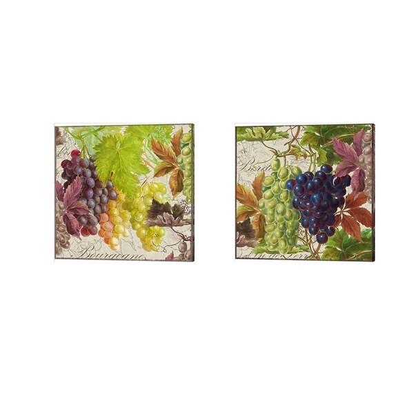 Cora Niele 'Vintage Fruits Grapes' Canvas Art (Set of 2)