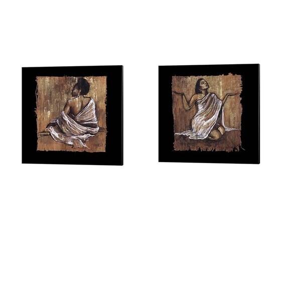 Monica Stewart 'Soulful Grace' Canvas Art (Set of 2). Opens flyout.