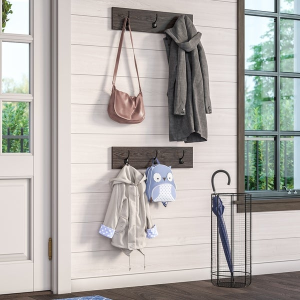 RiverRidge Afton 3-Hook Coat Rack (2 Pack)